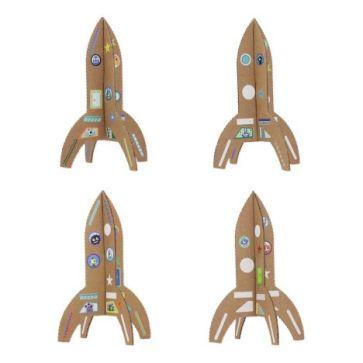 Les fusées cartonnées à décorer chez Smallable